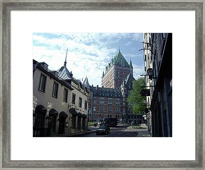 Framed Print featuring the photograph du Fort Chateau Frontenac by John Schneider