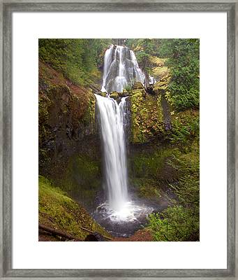 Framed Print featuring the photograph Dual Cascade by Todd Kreuter