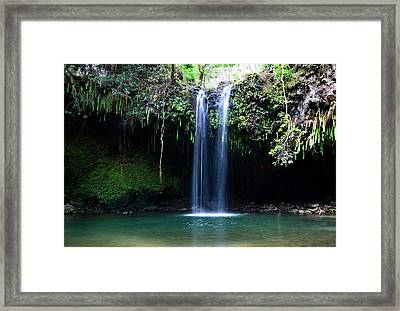 Dual Falls Framed Print