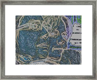 Dual Intensity - Study In Blue Framed Print