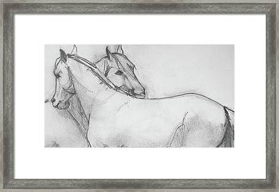 Dual Massage Sketch Framed Print