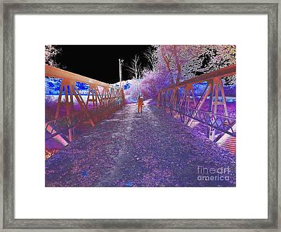Dual On The Bridge At Dusk - Abstract Framed Print by Scott D Van Osdol