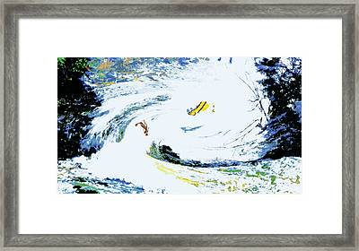 Dual Rivers Framed Print by Charles Papaccio