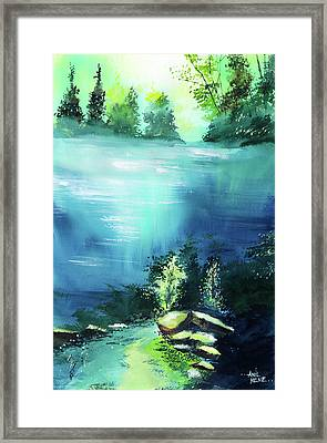 Framed Print featuring the painting Duality by Anil Nene