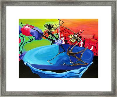 Duality In God's Hands Framed Print by JaFleu