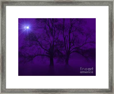 Duality On A Starry Night Framed Print