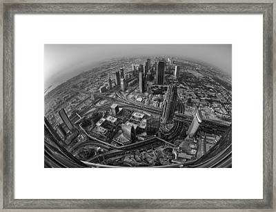 Dubai At The Top Framed Print by Robert Work