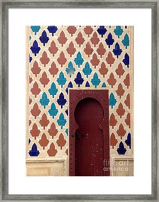 Dubai Doorway Framed Print