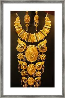 Dubai Gold Jewelry Framed Print by Art Spectrum