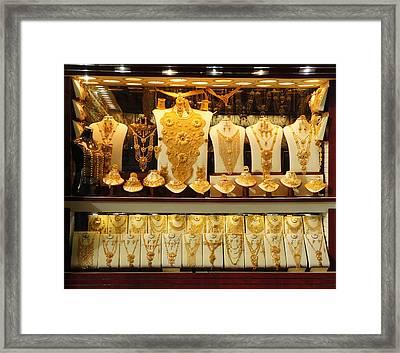 Dubai Gold Framed Print by Art Spectrum