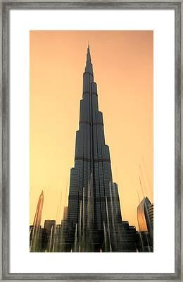 Dubai Sunset Framed Print by Stephen Stookey