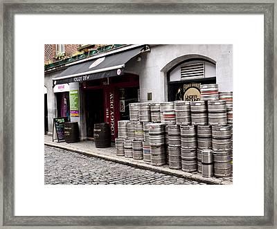 Dublin Beer Kegs Framed Print by Rae Tucker