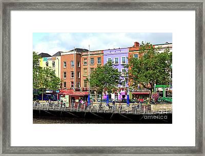 Dublin Building Colors Framed Print by John Rizzuto