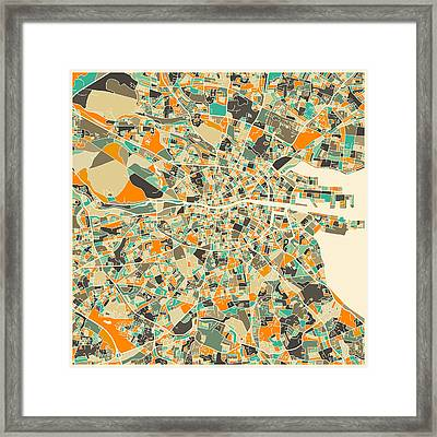 Dublin Map Framed Print