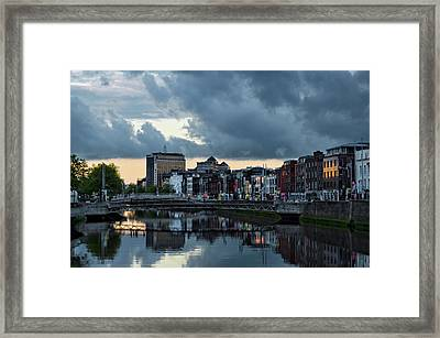 Dublin Sky At Sunset Framed Print