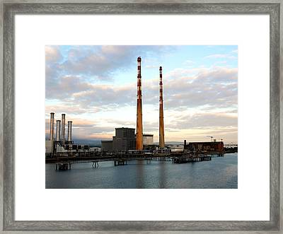 Dublin's Poolbeg Chimneys Framed Print