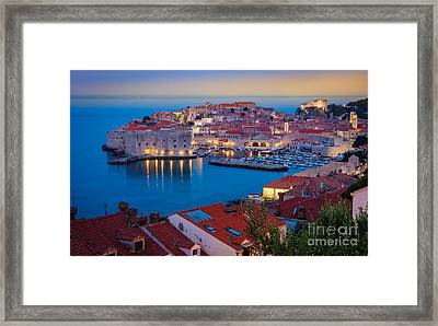 Dubronvik Dawn Framed Print by Inge Johnsson