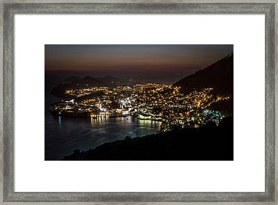 Dubrovnik At Night Framed Print by Jaroslaw Blaminsky