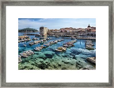 Dubrovnik Croatia - Port Framed Print