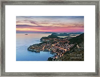 Dubrovnik, Croatia Framed Print by Rod McLean