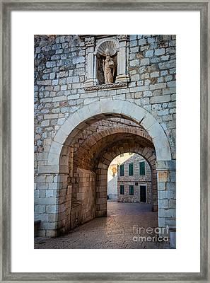 Dubrovnik Entrance Framed Print by Inge Johnsson