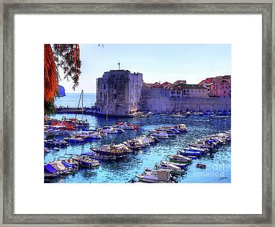 Dubrovnik Harbour Framed Print