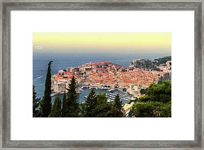 Dubrovnik Old City On The Adriatic Sea, South Dalmatia Region, C Framed Print