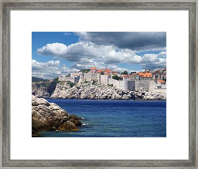 Dubrovnik On The Adriatic Framed Print