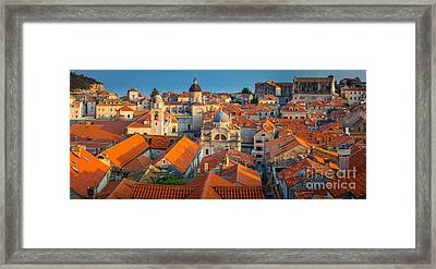 Dubrovnik Panorama Framed Print by Inge Johnsson