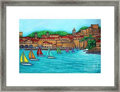 Dubrovnik Regatta Framed Print by Lisa  Lorenz