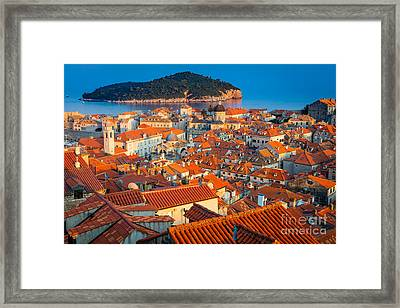 Dubrovnik Rooftops Framed Print by Inge Johnsson