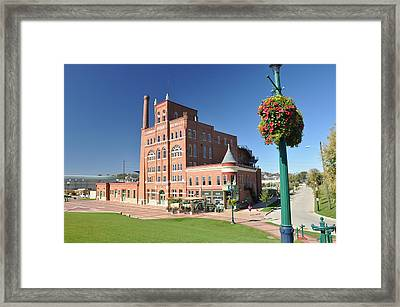 Dubuque Star Brewery Framed Print