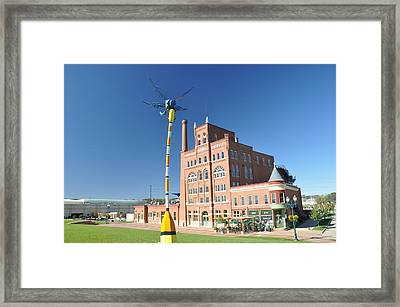 Dubuque Star Brewery With Fly Framed Print