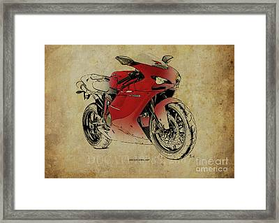Ducati 1098s, Gift For Bikers, Original Gift For Dad Framed Print by Pablo Franchi