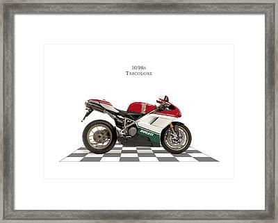 Ducati 1098s Tricolore Framed Print by Mark Rogan