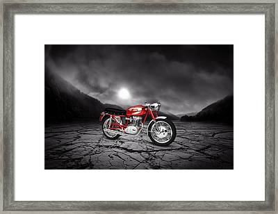Ducati 250 Mach 1 1964  Mountains Framed Print by Aged Pixel
