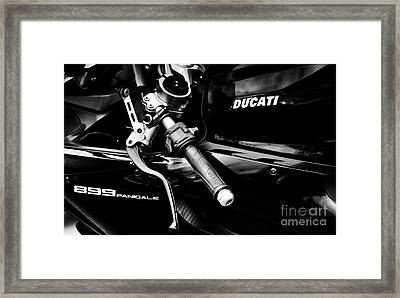 Ducati 899 Panigale Monochrome Framed Print