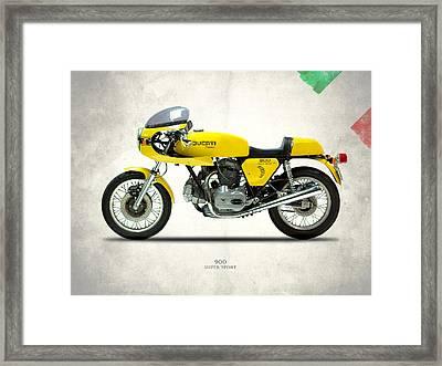 The 900 Super Sport 1977 Framed Print by Mark Rogan