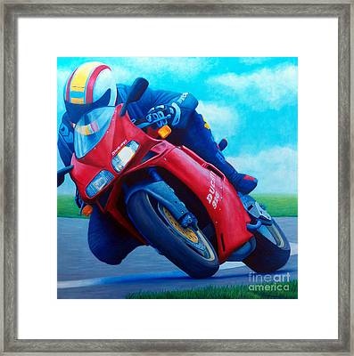Ducati 916 Framed Print by Brian  Commerford