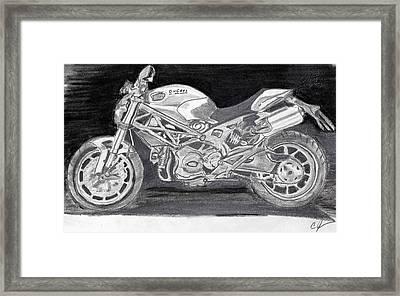 Ducati Framed Print by Cathy Jourdan