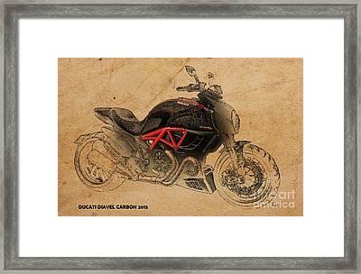 Ducati Diavel Carbon Framed Print by Pablo Franchi