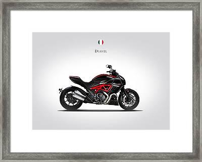 Ducati Diavel Framed Print by Mark Rogan