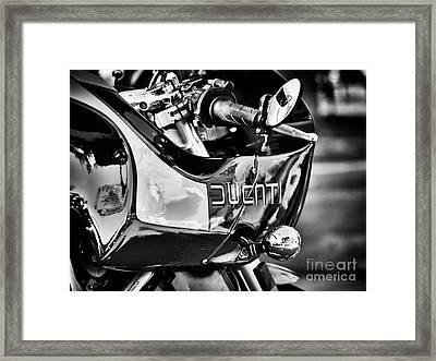 Ducati Mh900 Evoluzione Monochrome Framed Print by Tim Gainey