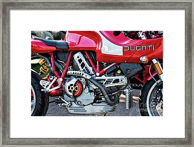 Framed Print featuring the photograph Ducati Mh900 Evoluzione by Tim Gainey