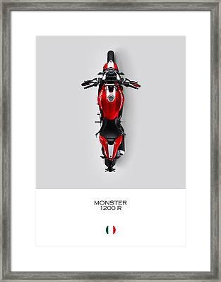 Ducati Monster 1200 R Framed Print
