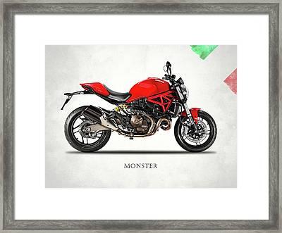 Ducati Monster 821 Framed Print