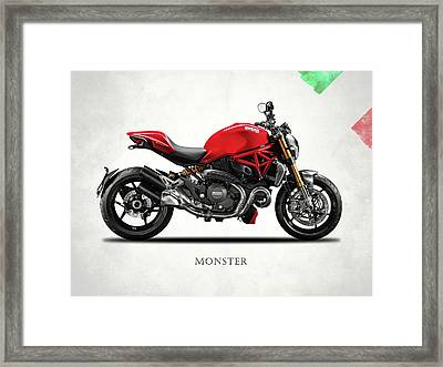Ducati Monster Framed Print