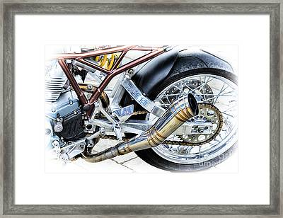 Ducati Power Framed Print by Tim Gainey