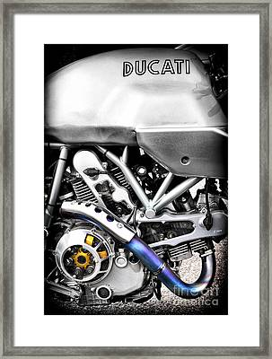 Ducati Ps1000le Engine Framed Print by Tim Gainey