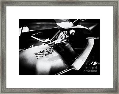 Ducati Ps1000le Monochrome Framed Print by Tim Gainey